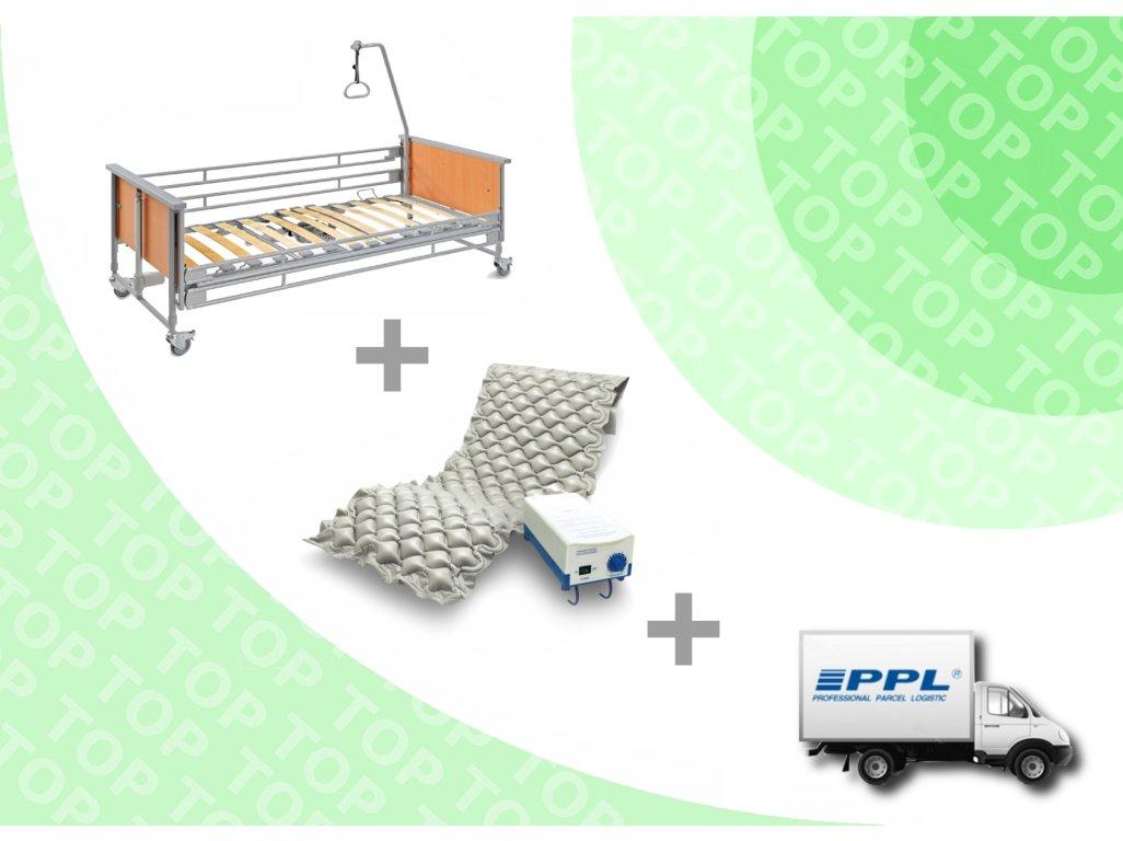 TOP REPAS - El. lůžko Bock 3fx + Antidek.mat. s kompresorem + DOPRAVA ZDARMA